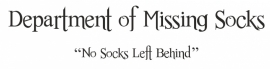 Muursticker Department of missing socks