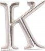 POSH Graffiti Silver Wooden 12 cm letter K