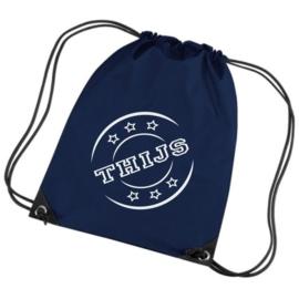 Gymtas Navy blauw naamstempel