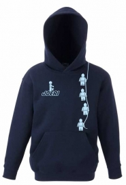 Kids Sweater Minifig Navy Blue met jouw naam