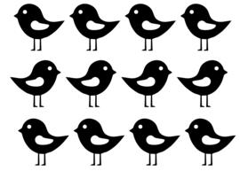 Stickersetje  Vogeltjes