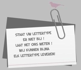 Staat u lettertype er niet bij ?
