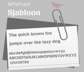 Lettertype Sjabloon