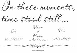 Muursticker In these Moments... met uw eigen bijzondere momenten