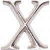 POSH Graffiti Silver Wooden 12 cm letter X