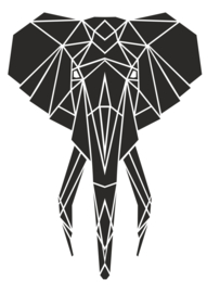 Muursticker Olifantenkop Variant