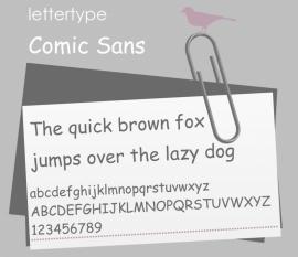 Lettertype Comic Sans