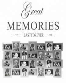 Muurtekst Memories