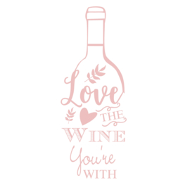 Muursticker Wijn