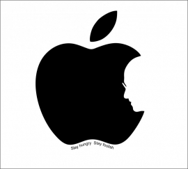 Muursticker Steve Jobs Apple