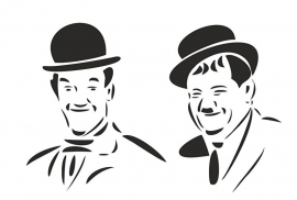 Muursticker Laurel & Hardy
