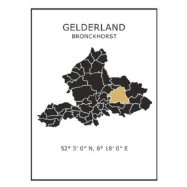 Muursticker Provincie Gelderland / gemeentes