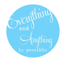 Muursticker  Button Everything is Possible