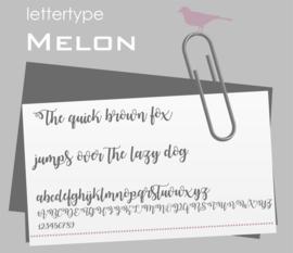Lettertype Melon