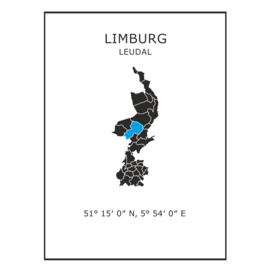 Muursticker Provincie Limburg / gemeentes
