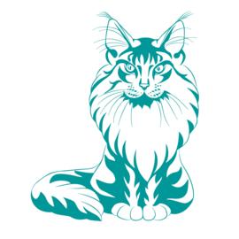 Muursticker Kat