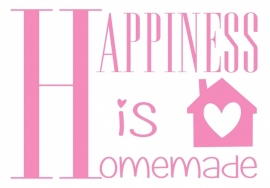 Muursticker Happiness is Homemade