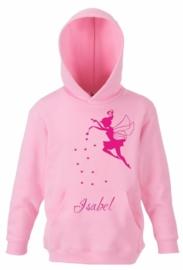 Kids Sweater Fee met jouw naam in Pink