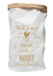 Paperbag Wat je bewaart in je hart...