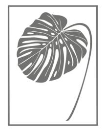 Muursticker Blad Gatenplant met kader