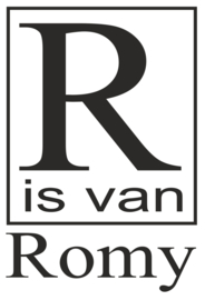 Naamsticker  ........is van ....