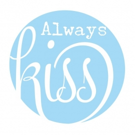 Muursticker  Button Always Kiss