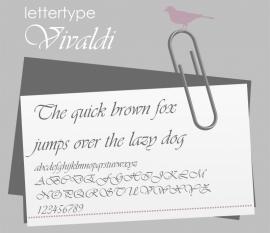 Lettertype Vivaldi