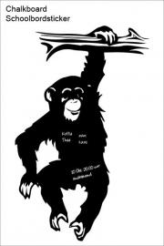 Schoolbord Muursticker Monkey