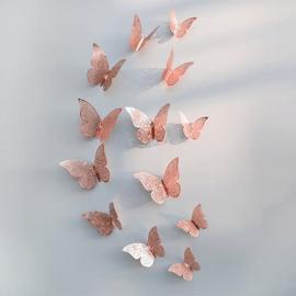 3D Vlinders Metaal Rose Gold