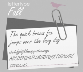 Lettertype Fall