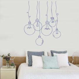 Muursticker Bulb Lampen