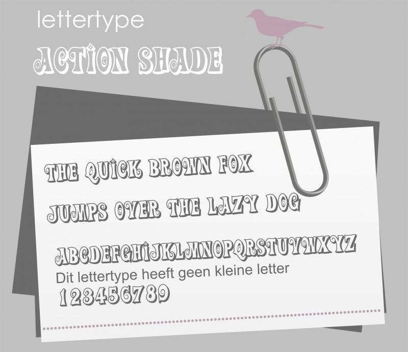 Lettertype Action Shade