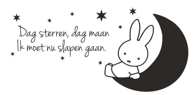 Muursticker Nijntje Dag Sterren, Dag maan...