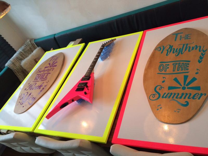 Teksten voor op surfboard