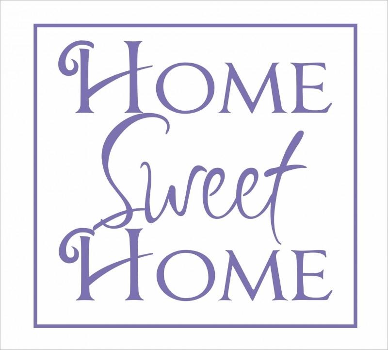 Muursticker Home Sweet Home.Home Sweet Home Muurstickers Tekst Muurstickers