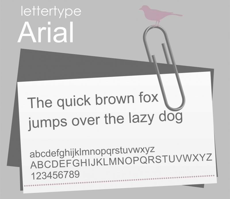 Lettertype Arial