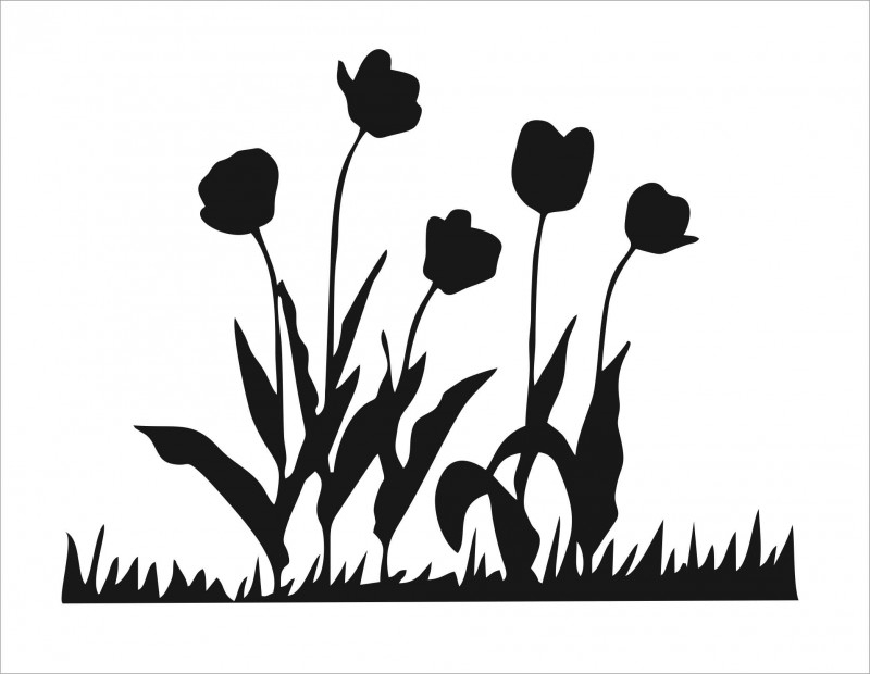 Muursticker Tulpen
