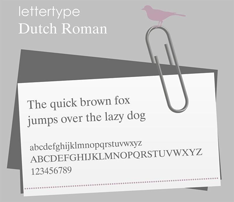 Lettertype Dutch Roman