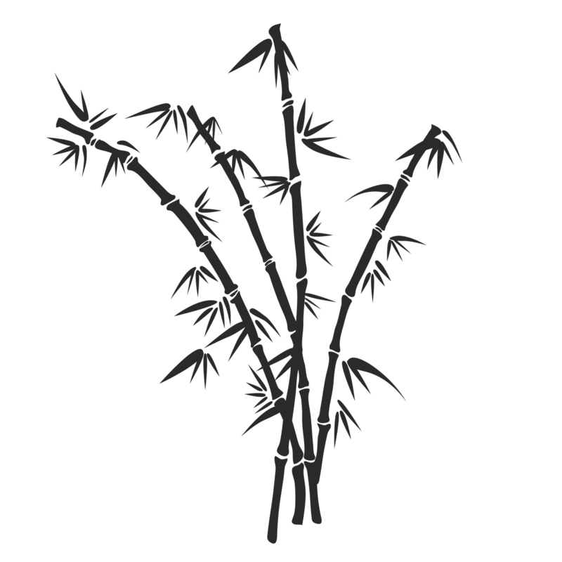 Muursticker Bamboe