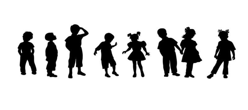 Muursticker Spelende kinderen