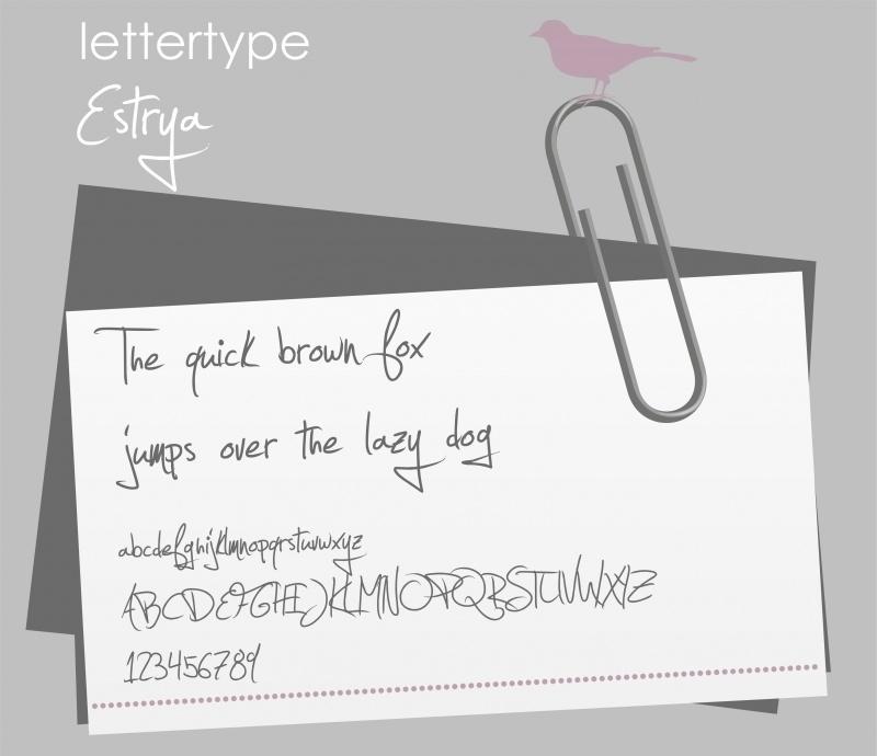 Lettertype Estrya