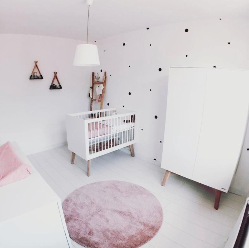 Naamstickers Muur Babykamer.Muursticker Polka Dots 101woonstickers Kies Diameter Dots