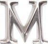 POSH Graffiti Silver Wooden 12 cm letter M