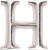 POSH Graffiti Silver Wooden 12 cm letter H