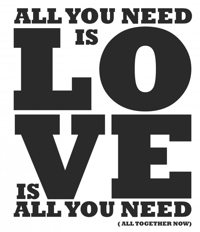 Muursticker All you need is...