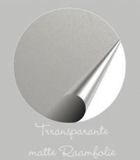 Transparante matte raamfolie