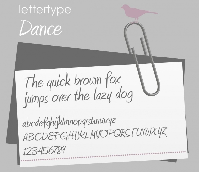 Lettertype Dance