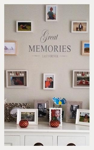 Muursticker Memories