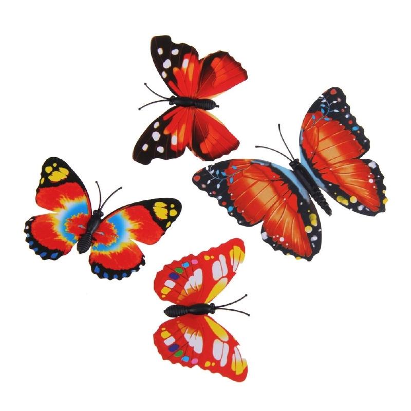3D Vlinders assorti Rood