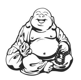 Muursticker Buddha beeld